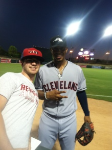 Me with Francisco Lindor at the 2014 Arizona Fall League